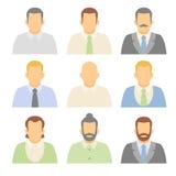 Caractères plats de vecteur Personnes d'avatars de vecteur Image libre de droits