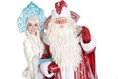 Caractères russes de Noël Photographie stock libre de droits
