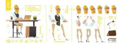 Caractères stylisés réglés pour l'animation Images libres de droits