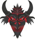 Caractéristique de masque avec des klaxons illustration de vecteur