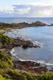Caractéristiques et roches géologiques aux roches de canal photographie stock libre de droits