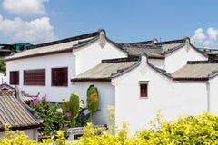 Caractéristiques nationales chinoises des bâtiments vernaculaires de logement Images libres de droits