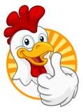 Caract?re de jeune coq de coq de bande dessin?e de poulet illustration stock