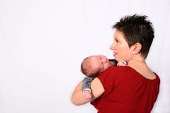 Característica de um bebê novo imagem de stock royalty free