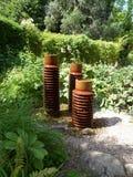 Característica del agua del jardín Imágenes de archivo libres de regalías