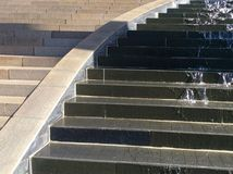 Característica del agua del escalonamiento, corriente Foto de archivo