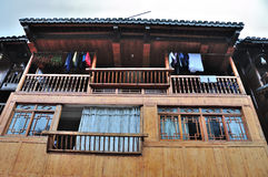 Característica del edificio del diaojiao de Miao Imagenes de archivo