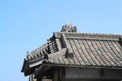 Característica do telhado do telhado chinês do estilo arquitetónico imagem de stock