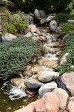 Característica e ajardinar da cachoeira Imagem de Stock Royalty Free