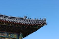 Características arquitetónicas chinesas antigas imagens de stock
