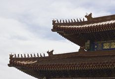 Características arquitetónicas chinesas antigas fotos de stock