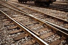 Características da trilha do trem Fotos de Stock