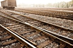 Características da trilha do trem Imagens de Stock Royalty Free