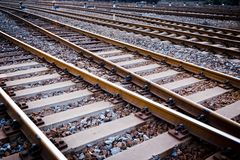 Características da trilha do trem Foto de Stock Royalty Free