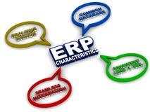 Características do ERP ilustração do vetor