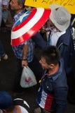 Caracter divertente alla dimostrazione antigovernativa Tailandia Fotografia Stock Libera da Diritti
