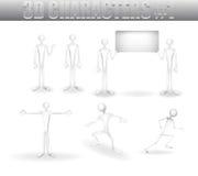 caracteres 3D Ilustración del Vector