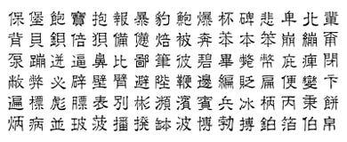 Caracteres chinos v3 Imagen de archivo