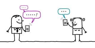 Caracteres con la tableta - mensaje libre illustration