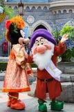 Caracteres de Disneyland París durante una demostración Fotos de archivo libres de regalías
