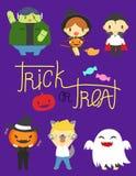 Caracteres de Halloween Imágenes de archivo libres de regalías