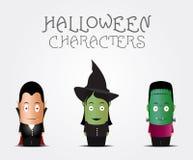 Caracteres de Halloween Stock de ilustración