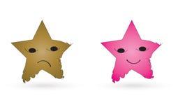 Caracteres de la estrella Fotografía de archivo libre de regalías