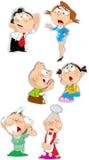 Caracteres de la familia de las emociones Imagen de archivo