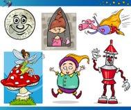 Caracteres de la fantasía de la historieta fijados Foto de archivo libre de regalías