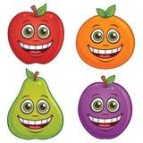 Caracteres de la fruta de la historieta Imágenes de archivo libres de regalías