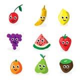 Caracteres de la fruta de la historieta Fotografía de archivo libre de regalías