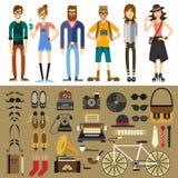 Caracteres de la gente stock de ilustración