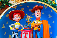Caracteres de la historia del juguete de Disney arbolados y jessie imagen de archivo libre de regalías