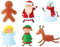 Caracteres de la Navidad Foto de archivo libre de regalías