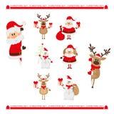 Caracteres de la Navidad fijados Foto de archivo