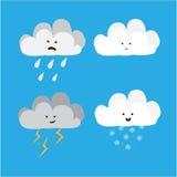 Caracteres de la nube ilustración del vector