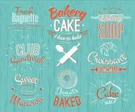 Caracteres de la panadería retros Imágenes de archivo libres de regalías