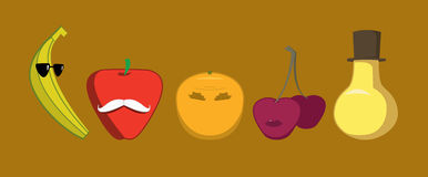 Caracteres de las frutas Fotografía de archivo libre de regalías
