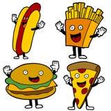 Caracteres de los alimentos de preparación rápida Fotos de archivo