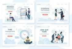 Caracteres de los empleados de oficina en las situaciones de funcionamiento libre illustration