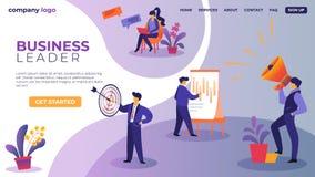 Caracteres de los empresarios en el proceso del flujo de trabajo ilustración del vector