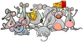 Caracteres de los ratones de la historieta con queso libre illustration