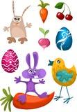 Caracteres de Pascua stock de ilustración