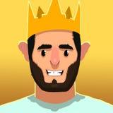 Caracteres de rey Smile Foto de archivo
