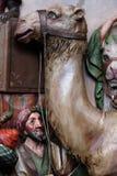 Caracteres del acompañamiento de reyes bíblicos que vinieron adorar a Jesús recién nacido fotos de archivo