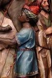 Caracteres del acompañamiento de reyes bíblicos que vinieron adorar a Jesús recién nacido foto de archivo libre de regalías