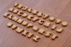 Caracteres del alfabeto de la galleta Fotografía de archivo
