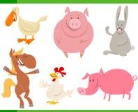 Caracteres del animal del campo de la historieta fijados stock de ilustración