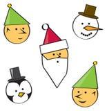 Caracteres del d?a de fiesta de la historieta Fotografía de archivo libre de regalías