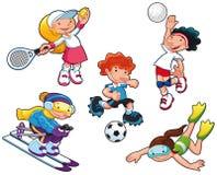 Caracteres del deporte. libre illustration